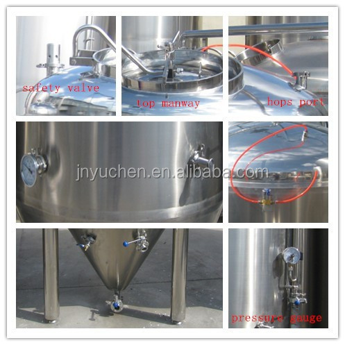 500 liter stainless steel fermenters, glycol jackets beer fermenter
