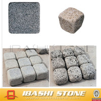 Cheap interlocking grey tumbled granite driveway paving stone