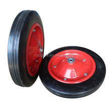 "13"" solid rubber garden cart wheel"