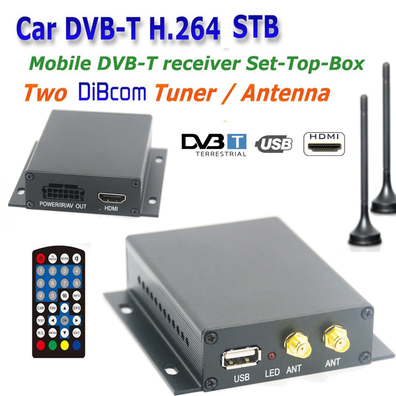 Iran Turkey Russia HD 230km/h DVB-T MPEG4 TV Receiver Box, Digital TV DVB-T Set Top Box,Car DVB-T Receiver MPEG2 MPEG4