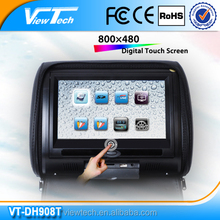modern design 9 inch car dvd OEM support headrest dvd with touch screen