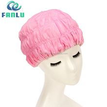 Yiwu Wholesale Custom Women Pink Waterproof PVC Shower Cap
