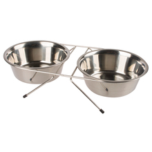 Custom Stainless Steel Raised Food Dog Bowl