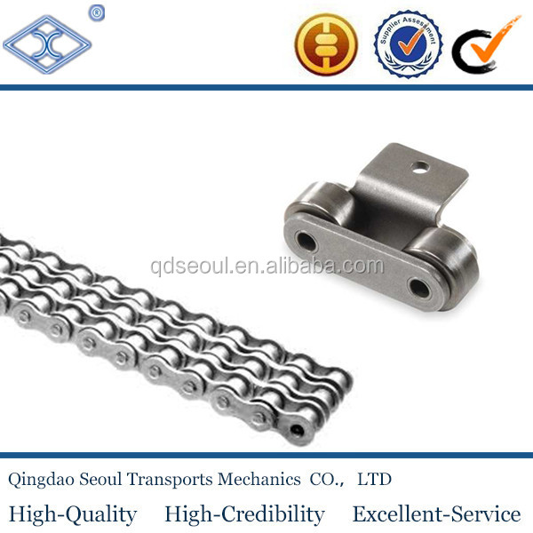 ANSI ISO A B series short double long pitch 304 316 stainless steel transmission conveyor roller plate chain K1 K2 SA attachment
