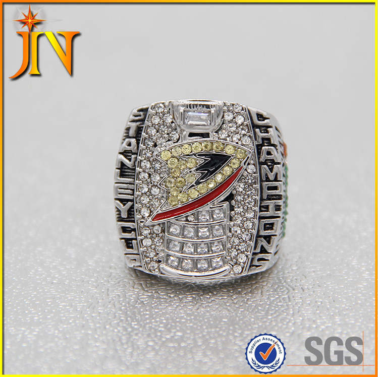 CR0074JN 2007 Anaheim Ducks silver Stanley Cup Championship Ring For Men Big Size ice hockey Replica Ring custom