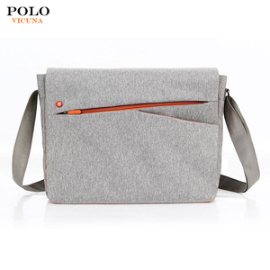 Wholesale VICUNA POLO Cheap Custom Durable Crossbody Shoulder Laptop Bags Linen Messenger Bag for Women and Men