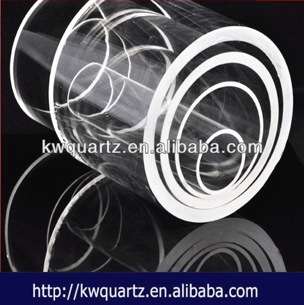 clear silica melting point of quartz glass tubing