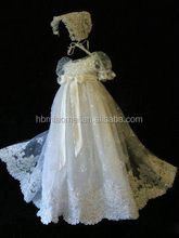 Latest A line Short Sleeve Formal Party Wear Baby Christening Dress for Baby Girl Princess Gown