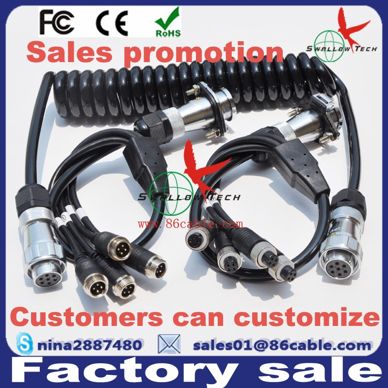 trailer truck tractor 7 core spiral coiled wire cable 7 pin pu pa trailer truck tractor 7 core spiral coiled wire cable 7 pin pu pa electrical cable 24v