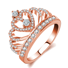 Latest rose gold vintage engagement 925 sterling silver ring