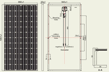 18V 100W Mono Solar Panel (Mono Conversion Rate 17.7% 4x9) hubperfectlife