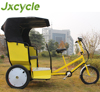 man power tricycle taxi with pedal assist system
