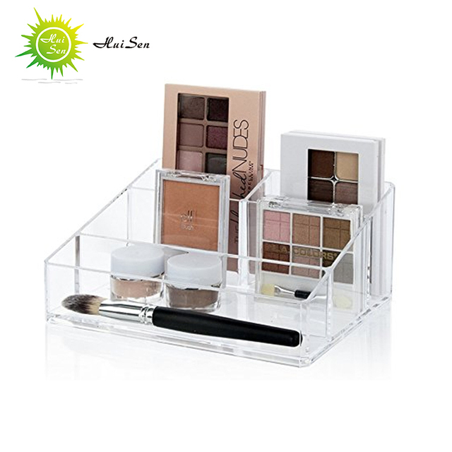 wholesale custom design acrylic cosmetic display stand, plastic makeup organizer