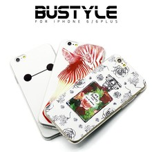 hot sale soft silicon tpu case simple white elegant for iphone 5s 6s plus back cover