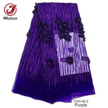 Factory favourable price textile stones net lace fabric for african women dress