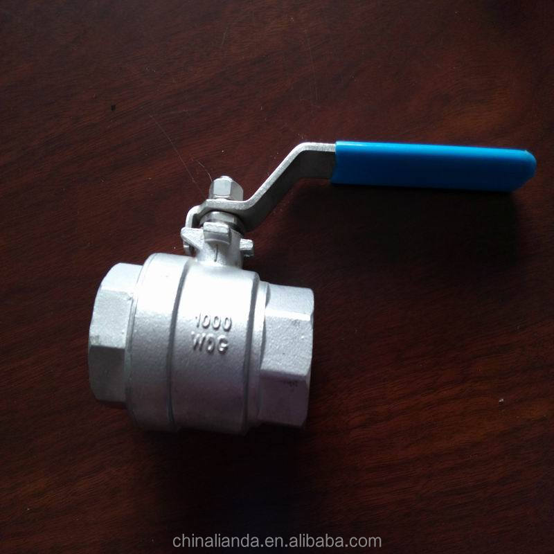 2PC Stainless Steel 304 pipe Ball Valve Threaded Fittings