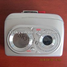 Newest skywin portable Mini walkman Cassette recorder player with FM Radio