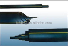 PE HDPE 100 black plastic water pipe/water well pipe