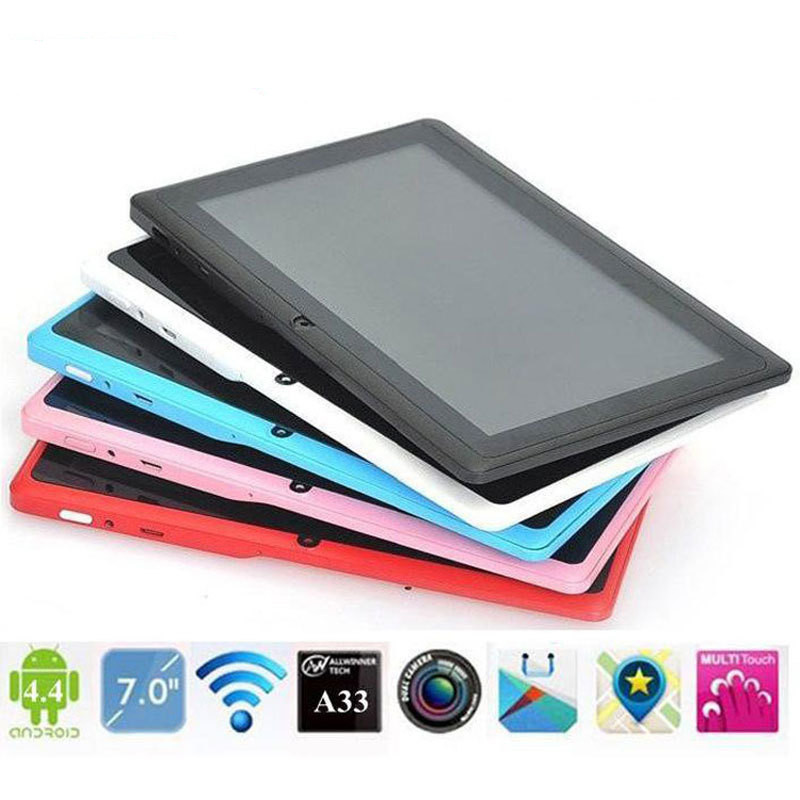 "Cheapest 7"" Tablet PC Android 4.4 Google A33 Quad-Core 1G 8GB WiFi Q88 Tab"