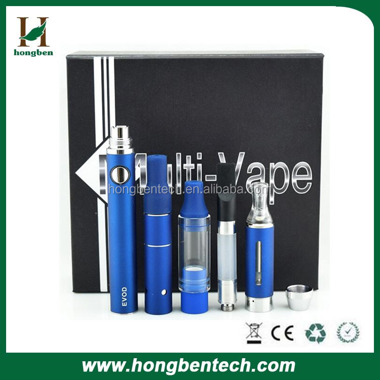 Evod 4 in 1 Dry herb Ago G5 herbal atomizer Wax oil Glass globe vaporizer E-liquid MT3 Clearomizer 1100mAh Evod