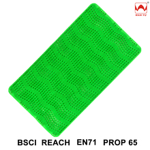 Soft Thick Plastic Massage Grass Bath Mat with Suction Cups