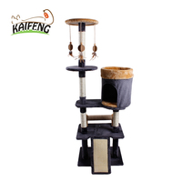 Handmade Custom Cat Scratcher Cute Premium Funky Cat Trees with Swing Toy