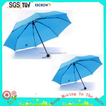 Good quality hot-sale 3 fold pane cloth ruffle umbrella