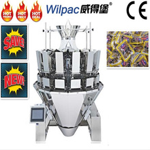 China factory price 2.5L 12 heads sachet counting combination weigher for jerked beef with CE and high accuracy