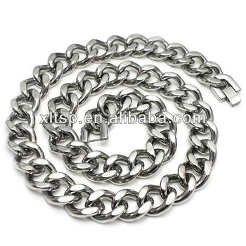TN346 Chunky Stainless Steel Cuban Chain