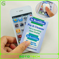 new Custom microfiber sticky screen cleaner for mobile phone and pad sticky cleaner