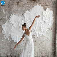 Custom handmade wedding decoration wall flower paper flower giant wedding backdrop