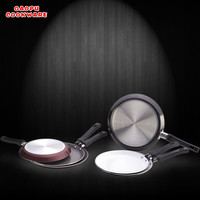 aluminium non stick white ceramic marble pizza pan indian tawa
