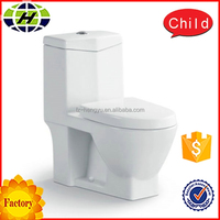 ceramic bathroom small siphon one piece toilet factory