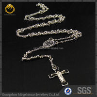 Wholesale stainless steel jewlery most popular silver plated cross necklace