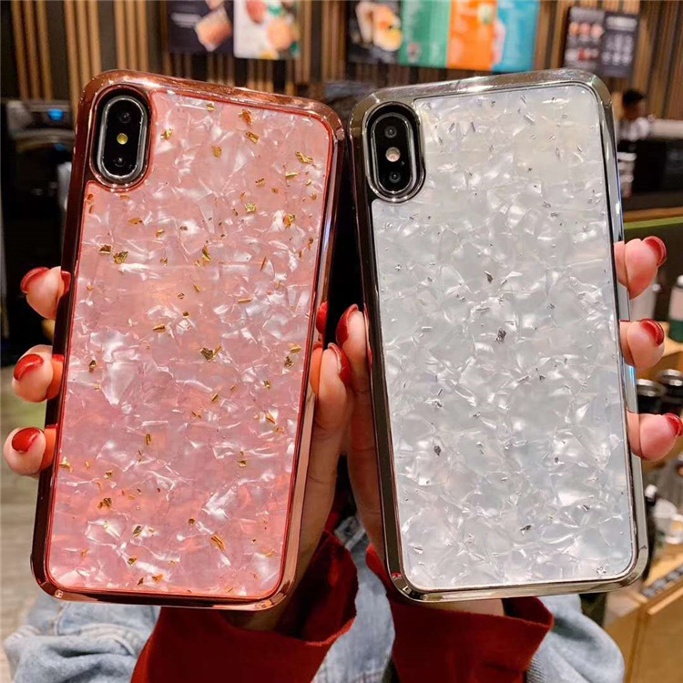 2019 hot selling Bling electroplating mobile <strong>phone</strong> case cover Women Girl Epoxy cellphone cases for iPhone XR