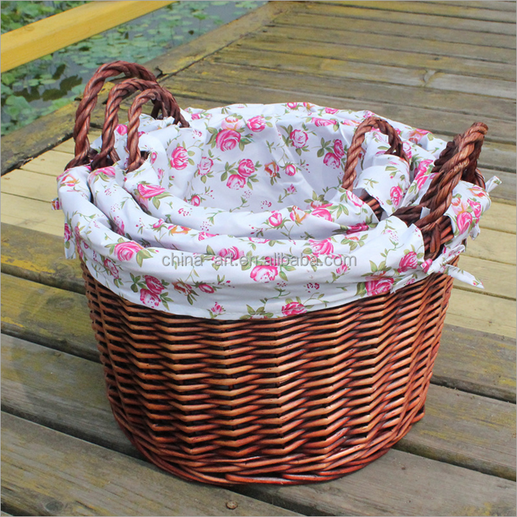 "3pc/se Wicker Material and Bask1et Product Type ""french baskets "" market baskets""wicker basket""moroccan baskets"" Storage basket"