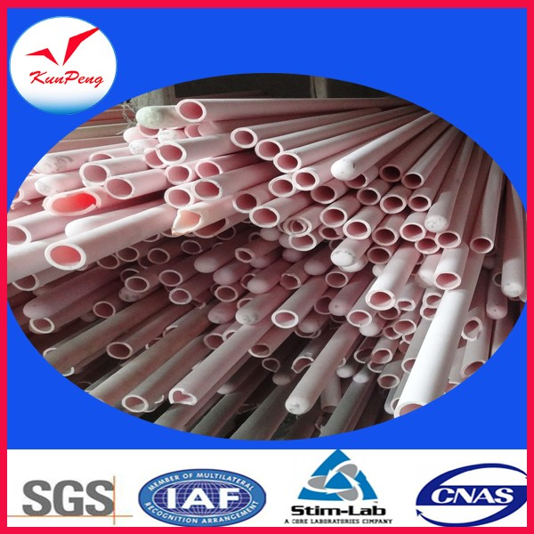 Pink and white high temperature resistance single hole 99 alumina tubes
