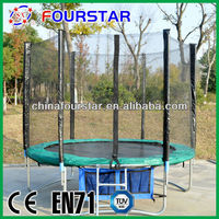 Hot Sell High Quality Bungee Trampoline,Standard Galvanized Steel Tube with Safety Net for Sale SX-FT(E)-8