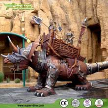 Fiberglass Fighting Dinosaur Statues