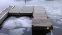 Plastic pontoon floats for boats/new design PE material floating water wharf