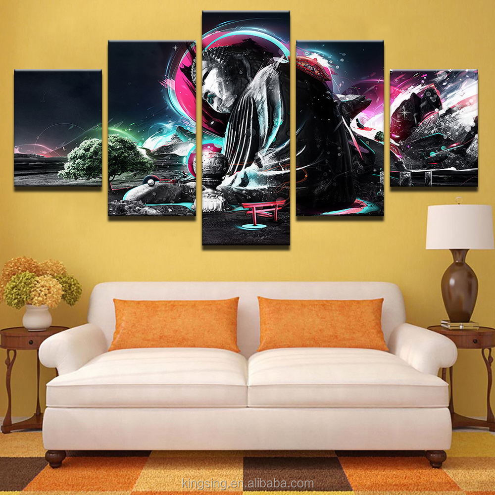 5 piece Canvas art printing interior decorative beautiful wall painting factory wholesale