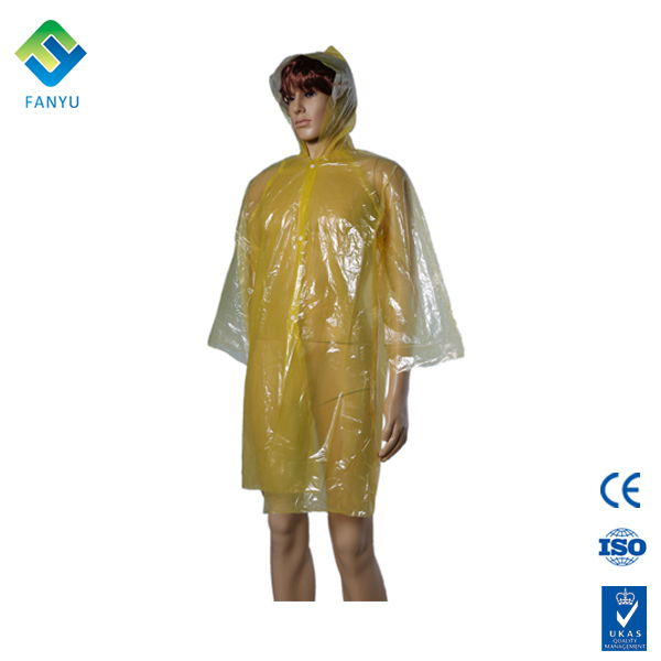 disposable yellow raincoats for kids poncho