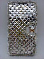 Handmade diamond pu cell phone cases for iphone 5