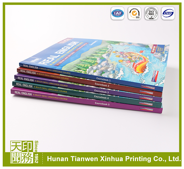 Alibaba supplier printing children education teaching english textbook publishers in China