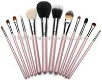 Professional 12piece makeup brushes sets made in china