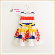 Smart Baby Girl Summer Clothing Cotton Printed Dress for Kids