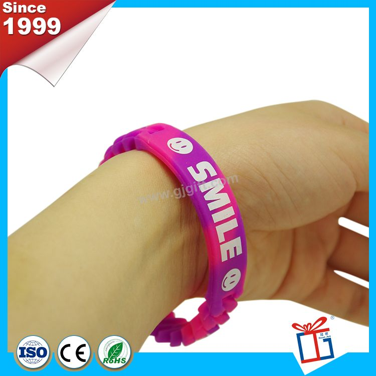 Different colors various rosary silicone wristband