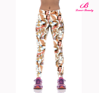 Custom made polyester spandex activewear leggings with horse pattern