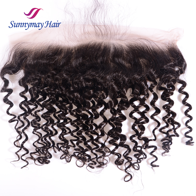 Unprocessed Brazilian Virgin Hair Ear To Ear Lace Frontal Body Curly Lace Frontal Closure With Baby Hair