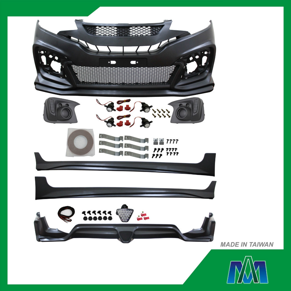 CAR BODY KIT FRONT BUMPER+SIDE SKIRT+REAR BUMPER FOR HONDA FIT 2014 M-STYLE AUTO BODY KIT